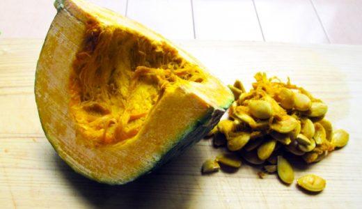 かぼちゃの保存は種とワタを取り除く!スプーンで一瞬わたと種の取り方!