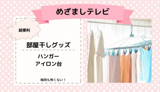 【めざましテレビ】部屋干し便利グッズ3選!これで梅雨も怖くない!